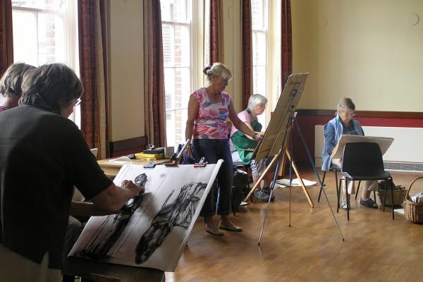 Tillington art class