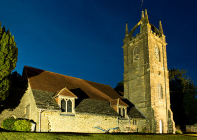 All Hallows Church in the Dark